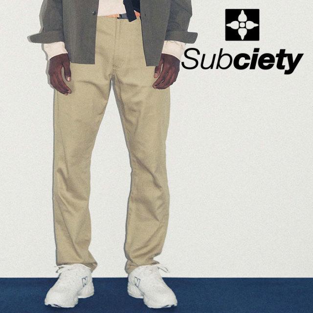 SUBCIETY(サブサエティ) WORK PANTS-PAISLEY- 【2019SPRING先行予約】 【キャンセル不可】【103-01158】