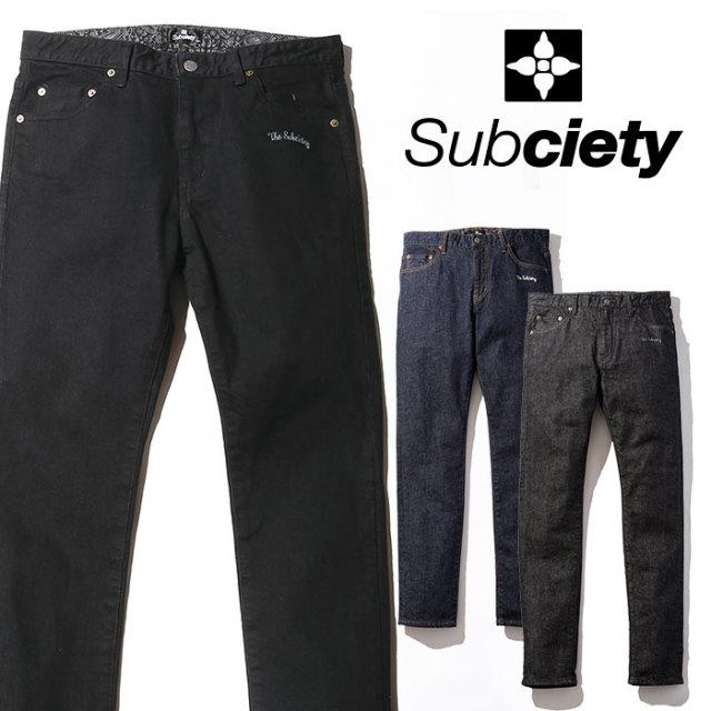 SUBCIETY(サブサエティ) SKINNY PANTS 【2019SPRING先行予約】 【キャンセル不可】【103-01160】