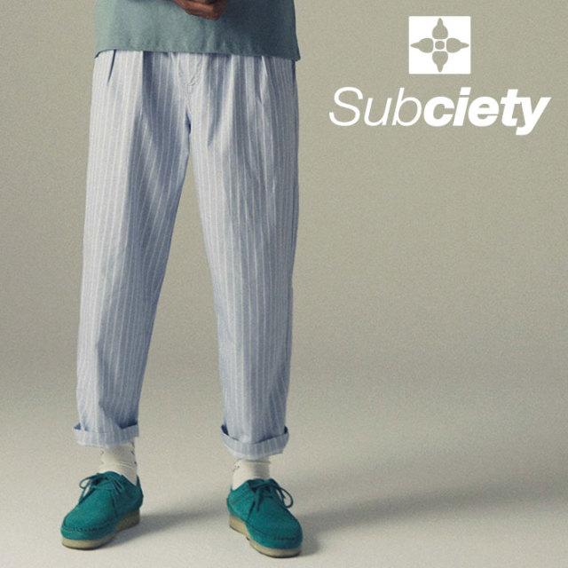 SUBCIETY(サブサエティ) STRIPE SLACKS 【2019SPRING先行予約】 【キャンセル不可】【108-01379】
