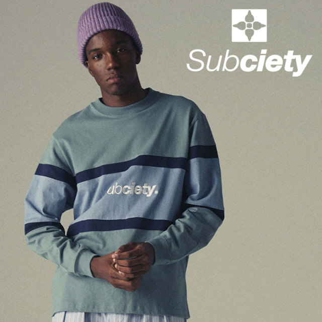 SUBCIETY(サブサエティ) SWITCHED L/S 【2019SPRING新作】 【ロングスリーブ Tシャツ】【108-44369】