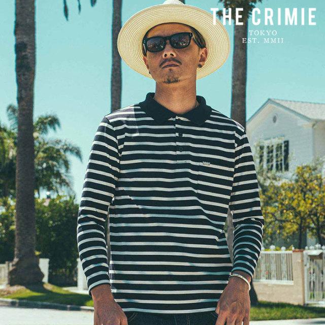 CRIMIE(クライミー) BORDER POLO SHIRT 【ボーダーポロシャツ】【ブラック オレンジ アメカジ ミリタリー】【シンプル おしゃれ】
