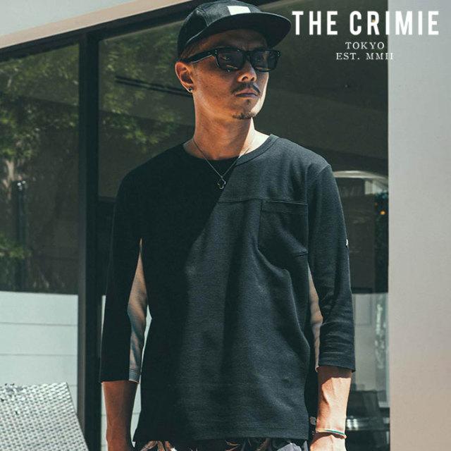 CRIMIE(クライミー) SURF KNIT POCKET FOOTBALL T-SHIRT 【サーフニットフットボールTシャツ】【ブラック グレー ネイビー アメカ