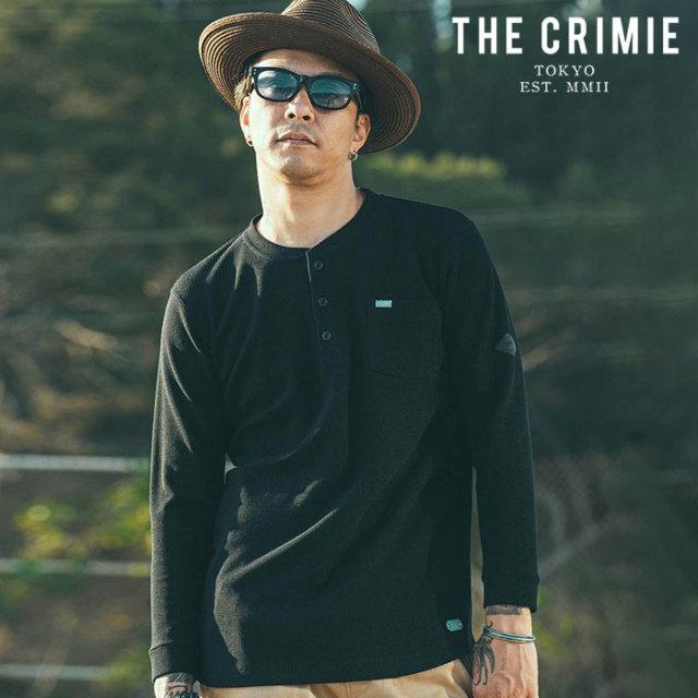 CRIMIE(クライミー) SUMMER KNIT HENRLY NECK 8TH SLEEVE 【サマーニット 8分袖】【ブラック ホワイト アメカジ ミリタリー】【シ