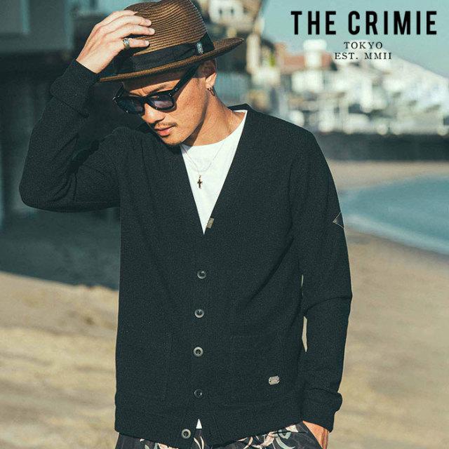 【SALE30%OFF】 CRIMIE(クライミー) SUMMER KNIT CARDIGAN 【セール】【サマーニット カーディガン】【ブラック グレー アメカジ