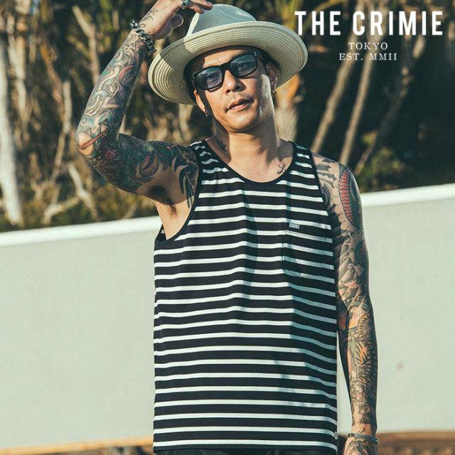 CRIMIE(クライミー) BORDER TANK TOP 【ボーダータンクトップ】【ブラック オレンジ アメカジ ミリタリー】【シンプル おしゃれ】