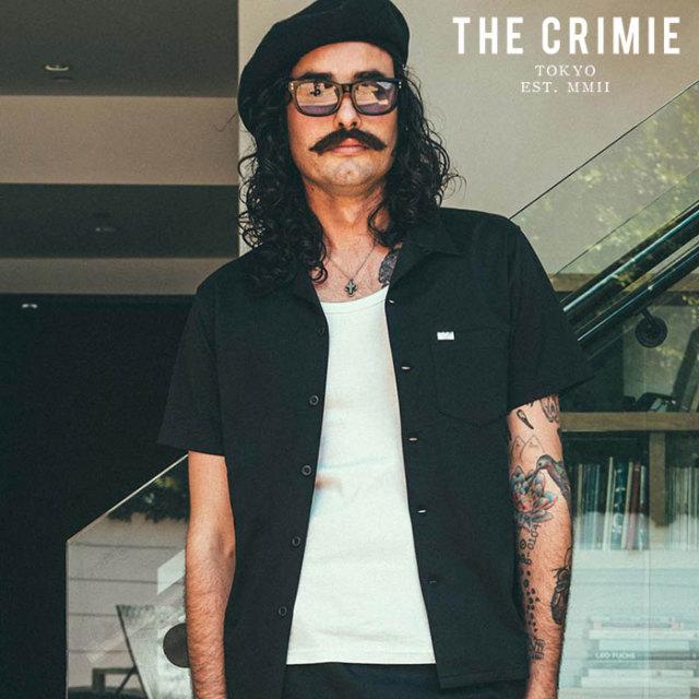 CRIMIE(クライミー) STRETCH BIG TWIL OPEN SHORT SLEEVE SHIRT 【半袖シャツ】【ブラック ネイビー アメカジ ミリタリー】【シン