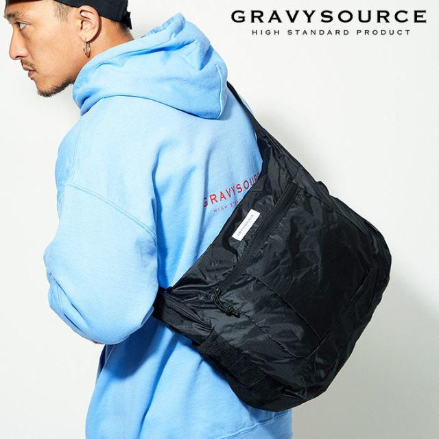 GRAVYSOURCE(グレイヴィーソース) PACKABLE SHOULDER BAG 【2019AUTUMN&WINTER先行予約】【キャンセル不可】 【GS19-AAC02】【シ
