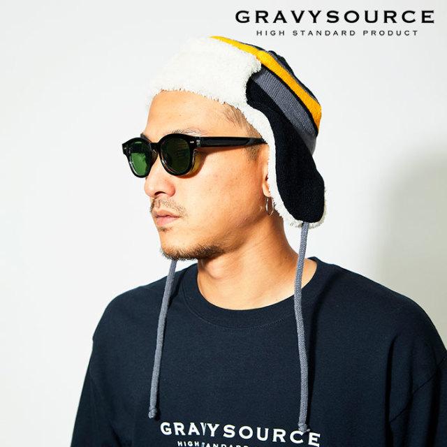 GRAVYSOURCE(グレイヴィーソース) TRAPPER KNIT CAP 【2019AUTUMN&WINTER先行予約】【キャンセル不可】 【GS19-ACP06】【ニットキ