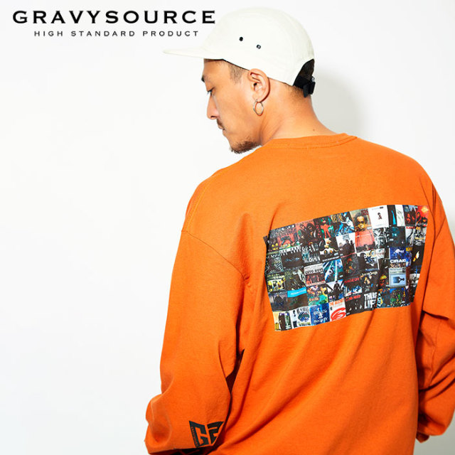 【SALE30%OFF】 GRAVYSOURCE(グレイヴィーソース) ALBUM L/S TEE 【ロングスリーブTシャツ】【HIPHOP名盤 アルバム ヒップホップ