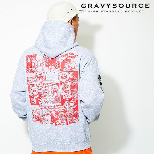 GRAVYSOURCE(グレイヴィーソース) COMIC HOODY 【2019AUTUMN&WINTER先行予約】【キャンセル不可】 【GS19-ASW04】【パーカー】