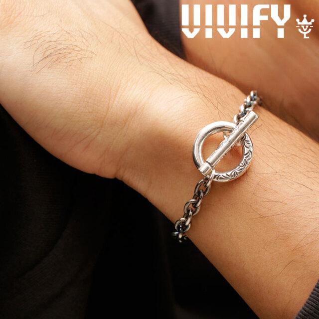 VIVIFY(ヴィヴィファイ)(ビビファイ) Arabesque T-Bar Chain Bracelet 【VIVIFY ブレスレット】【VFB-167】【メンズ レディース 】
