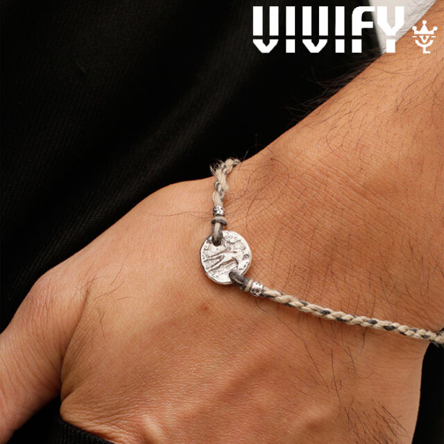 VIVIFY(ヴィヴィファイ)(ビビファイ) Braid Ancient Coin Blacelet 【VIVIFY ブレスレット】【VFB-169】【オーダーメイド ハンドメ
