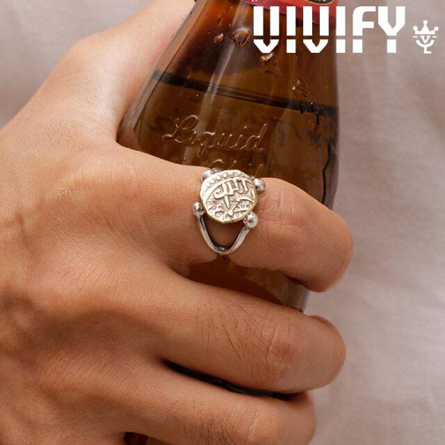 VIVIFY(ヴィヴィファイ)(ビビファイ) Ancient Coin Arm Ring (Brass) 【VIVIFY リング】【VFR-140】【オーダーメイド ハンドメイド