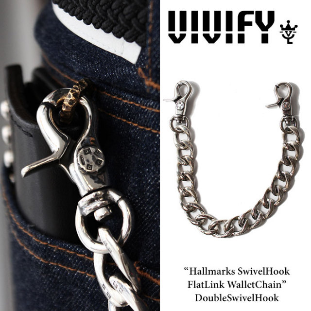 VIVIFY(ヴィヴィファイ) Hallmarks SwivelHook FlatLink WalletChain / DoubleSwivelHook 【2016 2nd EXHIBITION 先行予約】 【