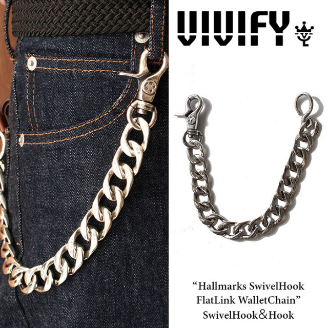 VIVIFY(ヴィヴィファイ) Hallmarks SwivelHook FlatLink WalletChain / SwivelHook&Hook 【2016 2nd EXHIBITION 先行予約】 【