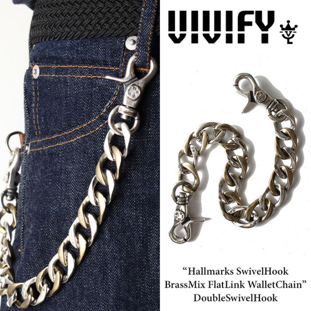 VIVIFY(ヴィヴィファイ) Hallmarks SwivelHook BrassMix FlatLink WalletChain / DoubleSwivelHook 【2016 2nd EXHIBITION 先行予