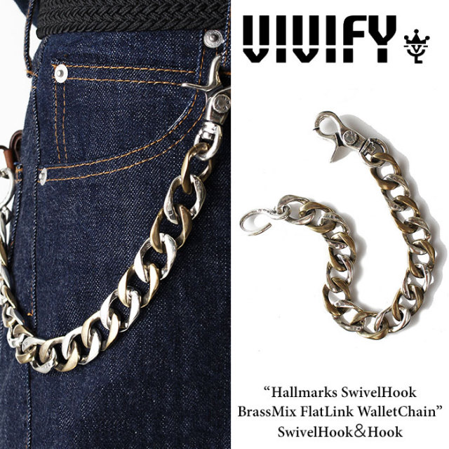 VIVIFY(ヴィヴィファイ) Hallmarks SwivelHook BrassMix FlatLink WalletChain / SwivelHook&Hook 【2016 2nd EXHIBITION 先行予