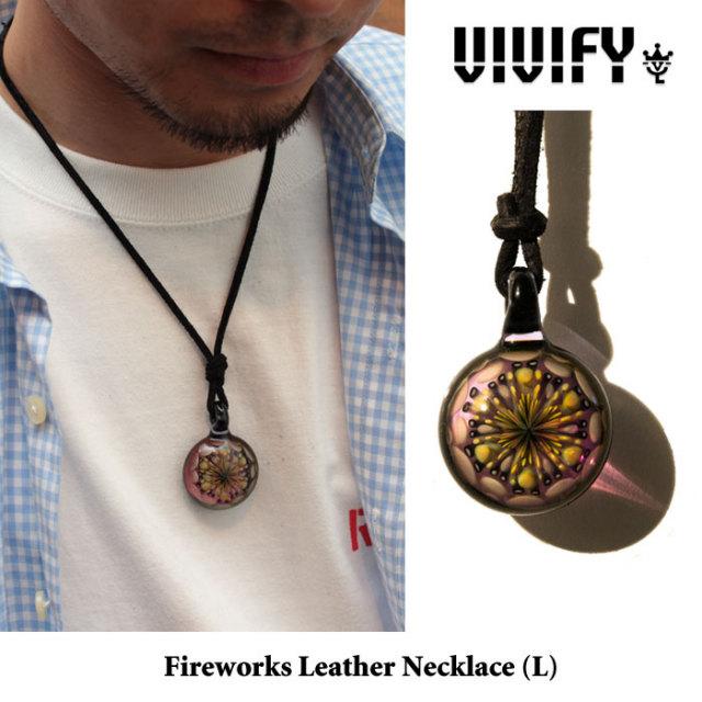 【2014 1st EXHIBITION先行予約】 VIVIFY(ヴィヴィファイ) Fireworks Leather Necklace(L) 【キャンセル不可】 【VIVIFY(ヴィヴ