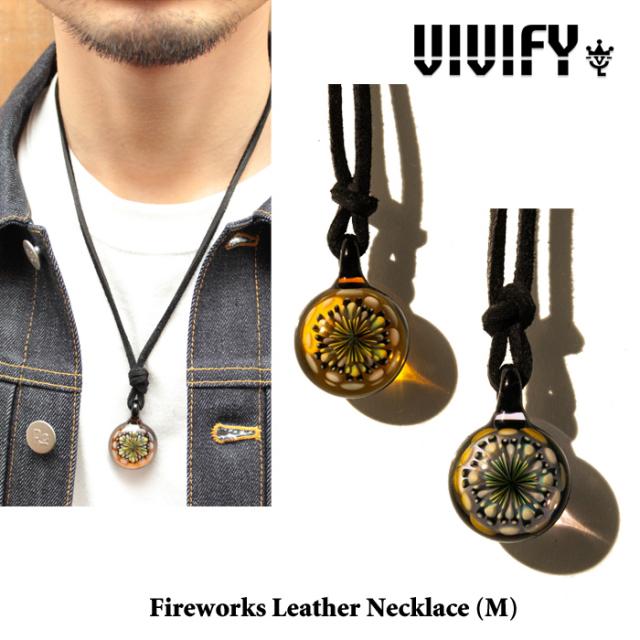 【2014 1st EXHIBITION先行予約】 VIVIFY(ヴィヴィファイ) Fireworks Leather Necklace(M) 【キャンセル不可】 【VIVIFY(ヴィヴ