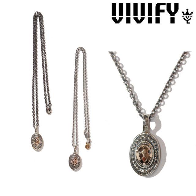 VIVIFY(ヴィヴィファイ)(ビビファイ)  K10CheckerCutStone Setting Necklace 【オーダーメイド 受注生産】【キャンセル不可】 【