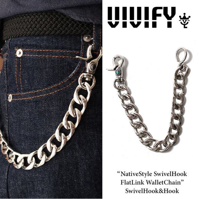VIVIFY(ヴィヴィファイ) NativeStyle SwivelHook FlatLink WalletChain / SwivelHook&Hook 【2016 2nd EXHIBITION 先行予約】 【