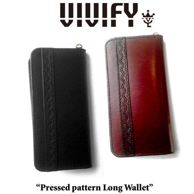 VIVIFY(ヴィヴィファイ) Pressed pattern Long Wallet 【予約商品】【キャンセル不可】 【長財布 ウォレット】【VFO-088】