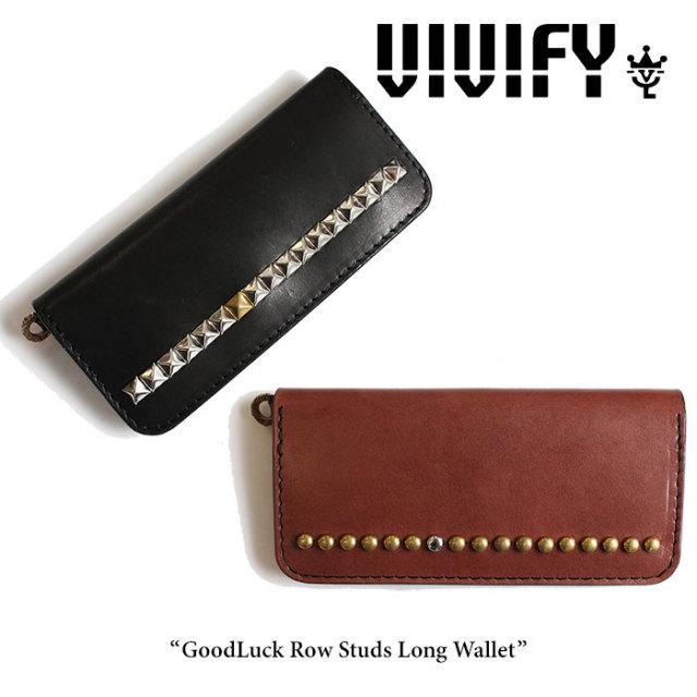 VIVIFY(ヴィヴィファイ) GoodLuck Row Studs Long Wallet 【2016 2nd EXHIBITION 先行予約】 【キャンセル不可】【送料無料】