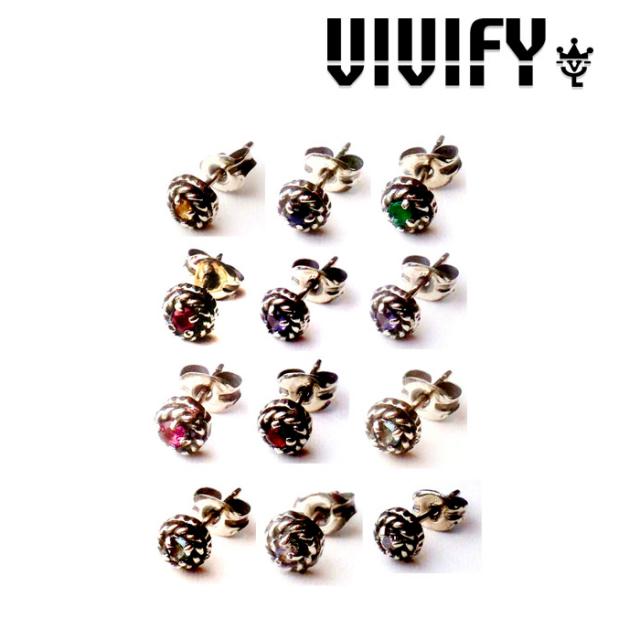 VIVIFY(ヴィヴィファイ) Birthstone Pierce 【オーダーメイド受注生産】【キャンセル不可】 【VIVIFY ピアス】【シルバー ゴール