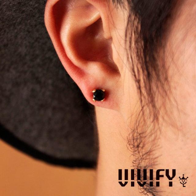 VIVIFY(ヴィヴィファイ) Simple Stone Pierce/k18 【オーダーメイド受注生産】【キャンセル不可】 【VIVIFY ピアス】【シルバー