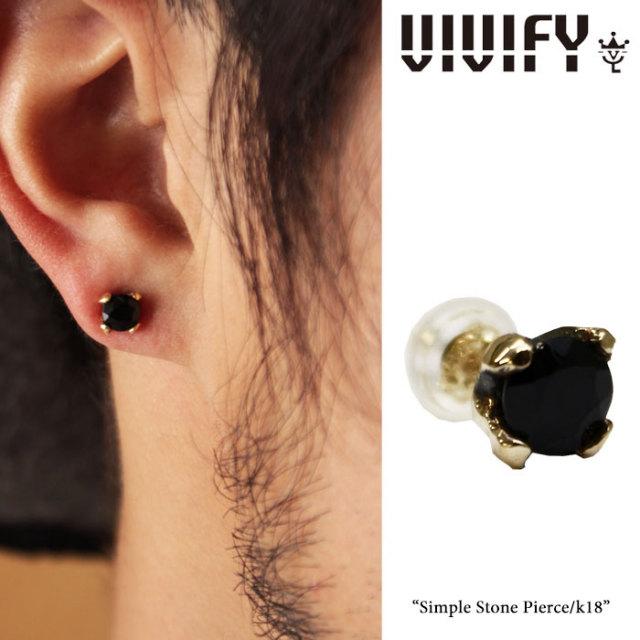 【2015 2nd EXHIBITION 先行予約】 VIVIFY(ヴィヴィファイ) Simple Stone Pierce/k18 【送料無料】【キャンセル不可】 【職人の