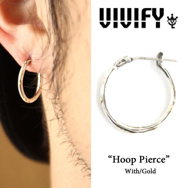 VIVIFY(ヴィヴィファイ)(ビビファイ) Hoop Pierce w/gold 【期間限定 送料無料】【即発送可能】 【vfp-105】【VIVIFY フープピア