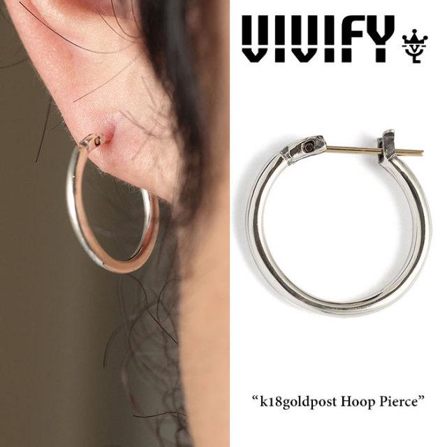 VIVIFY(ヴィヴィファイ) k18goldpost Hoop Pierce 【2016 2nd EXHIBITION 先行予約】 【キャンセル不可】 【職人の完全手作業に