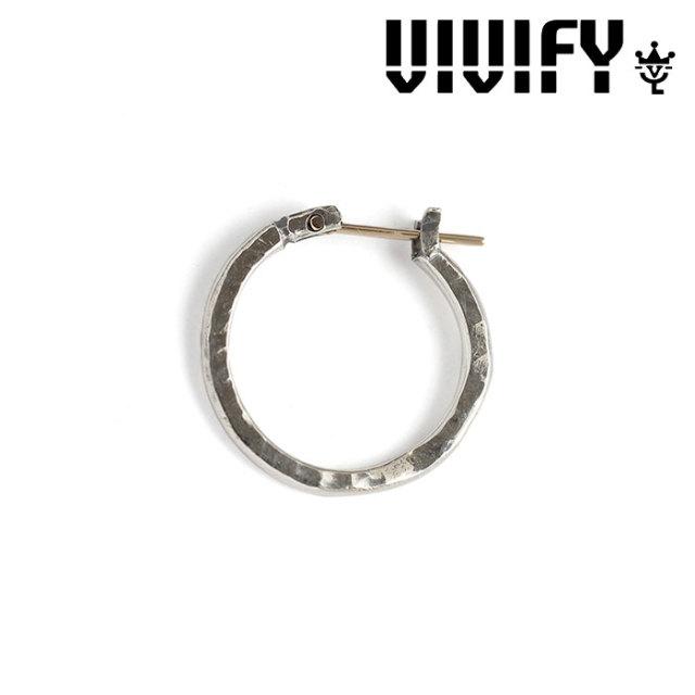 VIVIFY(ヴィヴィファイ) k18goldpost Hammered Hoop Pierce 【2016 2nd EXHIBITION 先行予約】 【キャンセル不可】 【職人の完