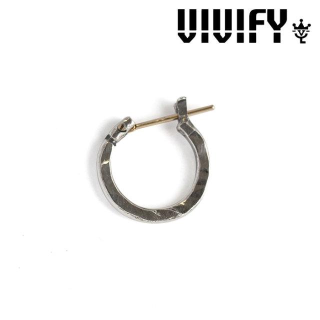 VIVIFY(ヴィヴィファイ) k18goldpost Hammered Hoop Pierce(S) 【2016 2nd EXHIBITION 先行予約】 【キャンセル不可】 【職人の