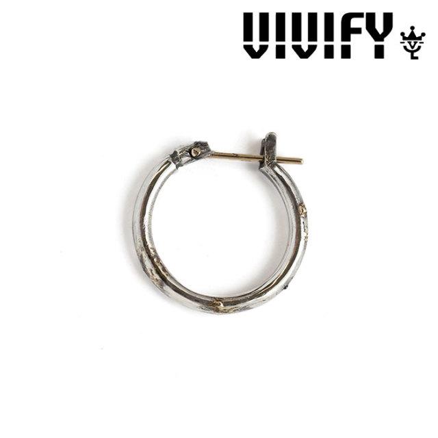 VIVIFY(ヴィヴィファイ) K18goldpost Hoop Pierce w/gold 【オーダーメイド 受注生産】【キャンセル不可】 【VIVIFY ピアス】【V
