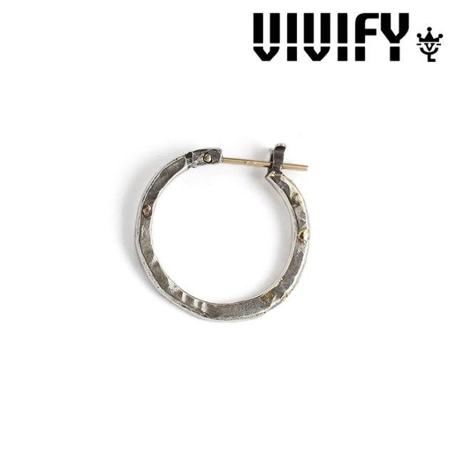 VIVIFY(ヴィヴィファイ) k18goldpost Hammered Hoop Pierce w/gold 【予約商品】【キャンセル不可】 【職人の完全手作業による逸