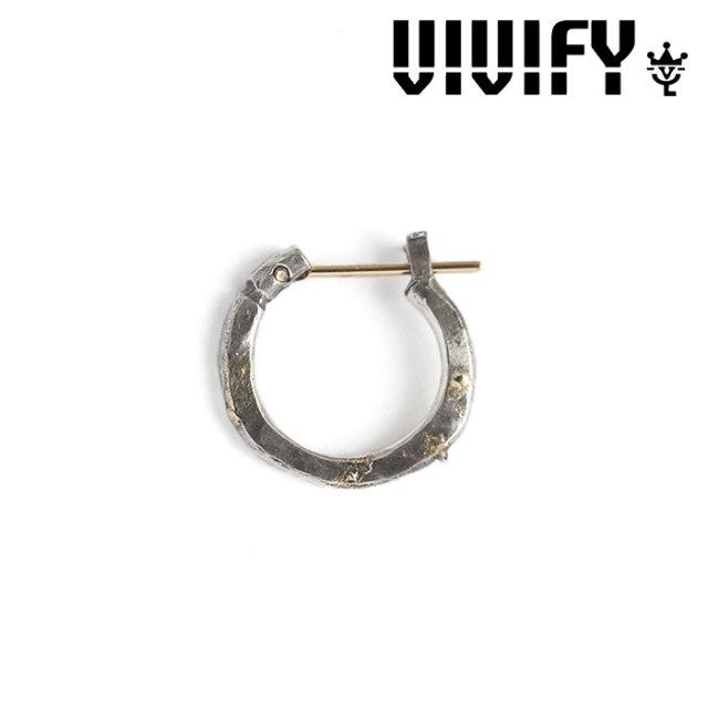 VIVIFY(ヴィヴィファイ) K18goldpost Hammered Hoop Pierce(S) w/gold 【予約商品】【キャンセル不可】 【職人の完全手作業によ