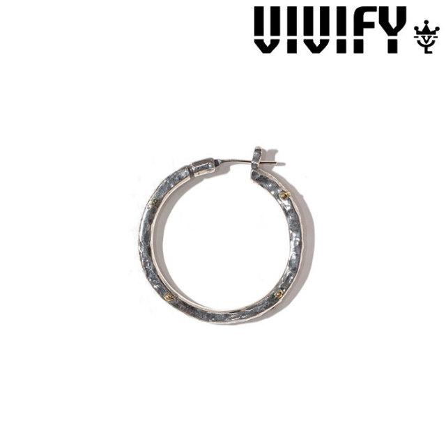 VIVIFY(ヴィヴィファイ)(ビビファイ) ThreeSides Hammered Hoop Pierce(XL) 3mm body w/gold 【オーダーメイド受注生産】【キャ