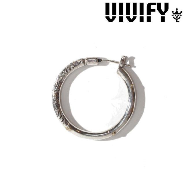 VIVIFY(ヴィヴィファイ)(ビビファイ) Arabesupue Hoop Pierce(XL)3mm body w/gold 【オーダーメイド受注生産】【キャンセル不可