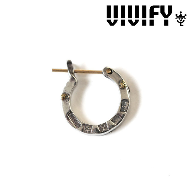 VIVIFY(ヴィヴィファイ) K18goldpost Hallmarks Hoop Pierce w/gold 【オーダーメイド受注生産】【キャンセル不可】 【VIVIFY フ