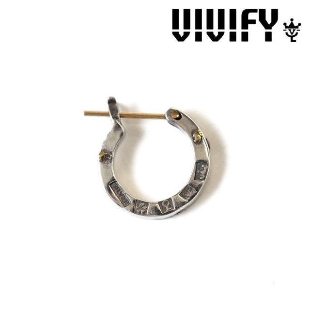 VIVIFY(ヴィヴィファイ) K18goldpost Hallmarks Hoop Pierce w/gold 【2016 2nd EXHIBITION 先行予約】 【キャンセル不可】 【