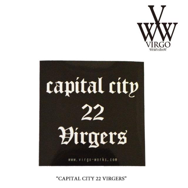 VIRGO(ヴァルゴ) CAPITAL CITY 22 VIRGERS 【2017SUMMER/EARLY AUTUMN新作】 【即発送可能】 【VIRGO メタルステッカー】 【VG-