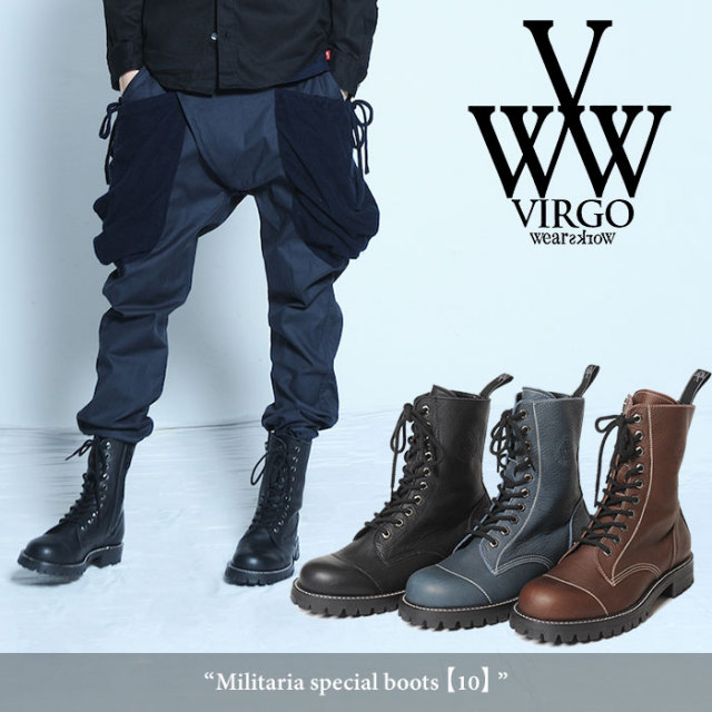VIRGO(ヴァルゴ) Militaria special boots 【2018SPRING/SUMMER新作】 【送料無料】【即発送可能】 【VIRGO(ヴァルゴ)】