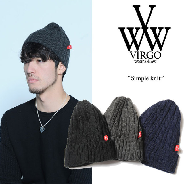 VIRGO(ヴァルゴ) Simple knit 【2017AUTUMN/WINTER新作】 【即発送可能】 【VG-GD-516】