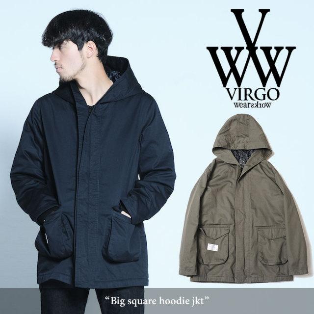 VIRGO(ヴァルゴ) Big square hoodie jkt 【2017AUTUMN/WINTER】 【送料無料】【即発送可能】 【VG-JKT-171】