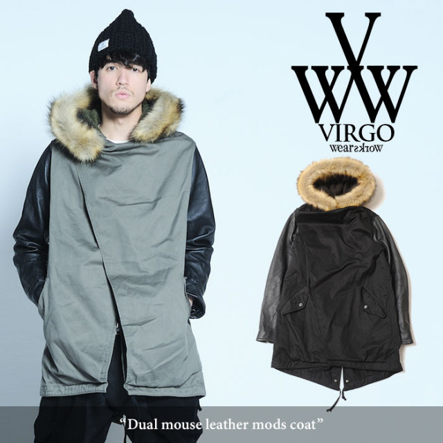 【SALE30%OFF】 VIRGO(ヴァルゴ) Dual mouse leather mods coat 【2017AUTUMN/WINTER新作】 【送料無料】【即発送可能】 【VG-J