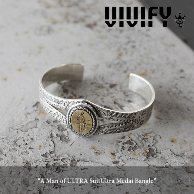 VIVIFY(ヴィヴィファイ) A Man of ULTRA SuitUltra Medai Bangle 【2016 2nd EXHIBITION 先行予約】 【キャンセル不可】【即発送