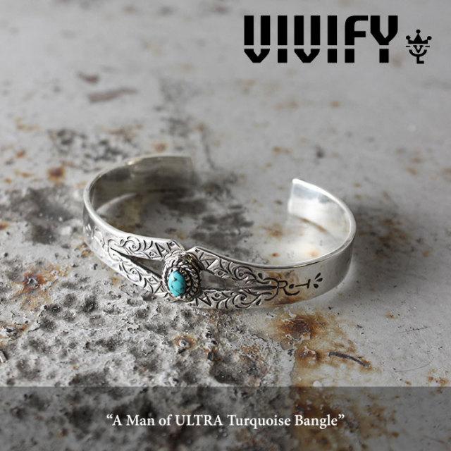 VIVIFY(ヴィヴィファイ) A Man of ULTRA Turquoise Bangle 【2016 2nd EXHIBITION 先行予約】 【キャンセル不可】【即発送可能】