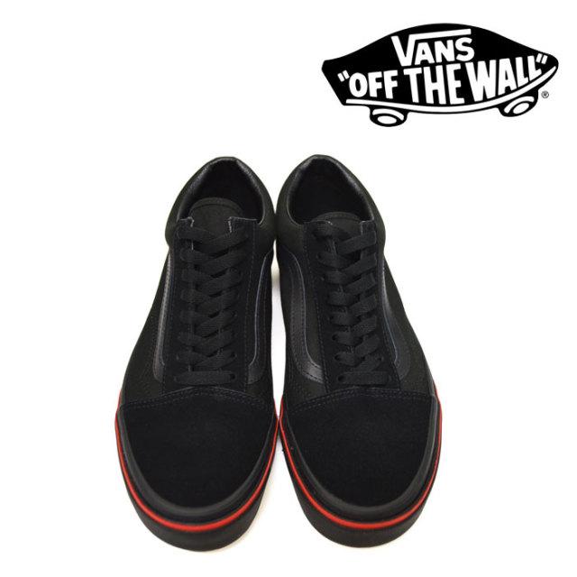 【VANS(バンズ)】 OLD SKOOL (FLAME WALL) BLACK/BLACK 【即発送可能】 【VANS スニーカー】 【VN0A38G1Q8Q】