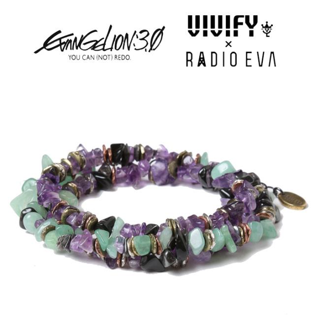 VIVIFY x RADIO EVA Pebble &Metal Chip's Beads Cord/初号機 【エヴァンゲリオン 公式アクセサリー】【evangelion】【VRE-271】